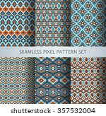 collection of pixel colorful... | Shutterstock .eps vector #357532004