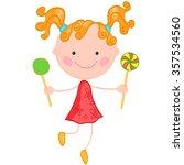 illustration of a little... | Shutterstock .eps vector #357534560