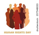 human rights day | Shutterstock . vector #357548033