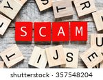 Wooden Letters Spelling Scam