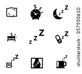 Vector Black Sleep Icon Set....