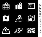 vector white map icon set. | Shutterstock .eps vector #357553556