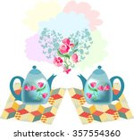 beautiful vector illustration... | Shutterstock .eps vector #357554360