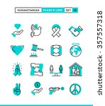 humanitarian  peace  justice ... | Shutterstock .eps vector #357557318