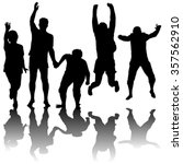silhouettes of active people... | Shutterstock .eps vector #357562910