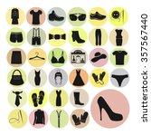 clothes set vector icons....
