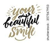 vector calligraphic... | Shutterstock .eps vector #357567953