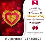 valentine's day party... | Shutterstock .eps vector #357568829