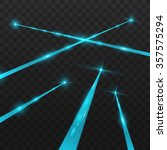 abstract blue laser beams.... | Shutterstock .eps vector #357575294