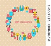 template frame design for baby... | Shutterstock .eps vector #357577043