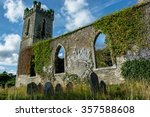 Old Church Ruin With Graveyard...