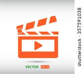 clapper board  icon. one of set ... | Shutterstock .eps vector #357591038