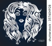 virgo . astrology zodiac sign.... | Shutterstock .eps vector #357604928