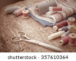 Scissors  Bobbins With Thread...