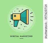 Digital Marketing  Flat Design...