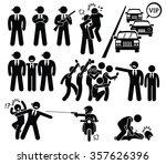 bodyguard protecting vip boss... | Shutterstock .eps vector #357626396