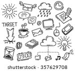 set of business icon doodle... | Shutterstock .eps vector #357629708