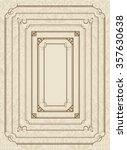 decorative gold frame set vector | Shutterstock .eps vector #357630638