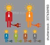 vector   businessman with light ...   Shutterstock .eps vector #357636983
