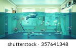 an underwater view in the... | Shutterstock . vector #357641348