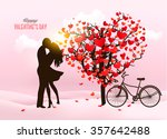 valentine's day background with ... | Shutterstock .eps vector #357642488