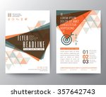 abstract triangle shape poster... | Shutterstock .eps vector #357642743