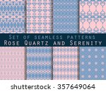 set of seamless patterns.... | Shutterstock .eps vector #357649064