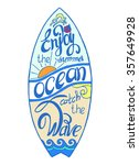 colored surfboard calligraphy...   Shutterstock .eps vector #357649928