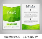 design brochures  flyers  with... | Shutterstock .eps vector #357650249