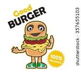 burger human being thumbs | Shutterstock .eps vector #357655103