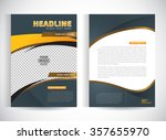 abstract vector modern flyers... | Shutterstock .eps vector #357655970