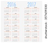 english calendar for years 2016 ... | Shutterstock .eps vector #357659330