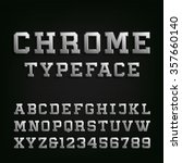 beveled chrome alphabet font.... | Shutterstock .eps vector #357660140