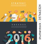 flat design concepts for... | Shutterstock .eps vector #357662324