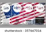 set of modern gift voucher... | Shutterstock .eps vector #357667016