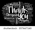 thank you word cloud background ... | Shutterstock .eps vector #357667160