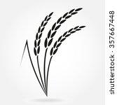rice. crop symbol. rice or... | Shutterstock .eps vector #357667448