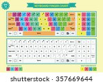 keyboard finger chart  left and ... | Shutterstock .eps vector #357669644