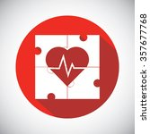 heart object made of puzzle... | Shutterstock .eps vector #357677768