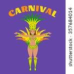 brazilian carnival woman.samba... | Shutterstock .eps vector #357684014