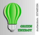 vector illustration of a green... | Shutterstock .eps vector #357685334