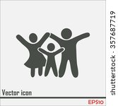 happy family icon in simple... | Shutterstock .eps vector #357687719