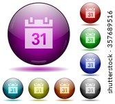 set of color calendar glass...