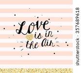chic modern happy valentine's... | Shutterstock .eps vector #357689618