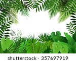 jungle on white background... | Shutterstock .eps vector #357697919