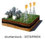 3d illustration of soil cutaway.... | Shutterstock . vector #357699854