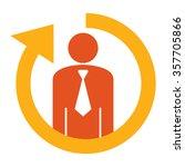 orange staff or employee... | Shutterstock . vector #357705866