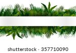 tropical foliage. floral design ... | Shutterstock .eps vector #357710090