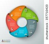 vector circle infographic....   Shutterstock .eps vector #357710420