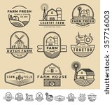 set of vintage and modern farm... | Shutterstock .eps vector #357716003